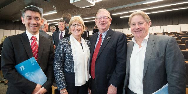 Stephen Lew, Rosemary Calder, Glenn Bowes, Brian Haratsis