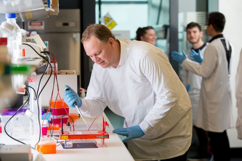 Associate Professor Daniel Buchanan at the University of Melbourne Centre for Cancer Research
