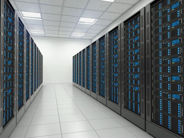 Server room in data centre