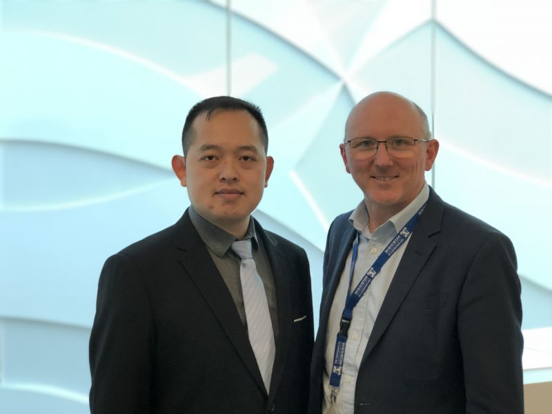 Dr Zhining Yang with UMCCR Director Dr Sean Grimmond
