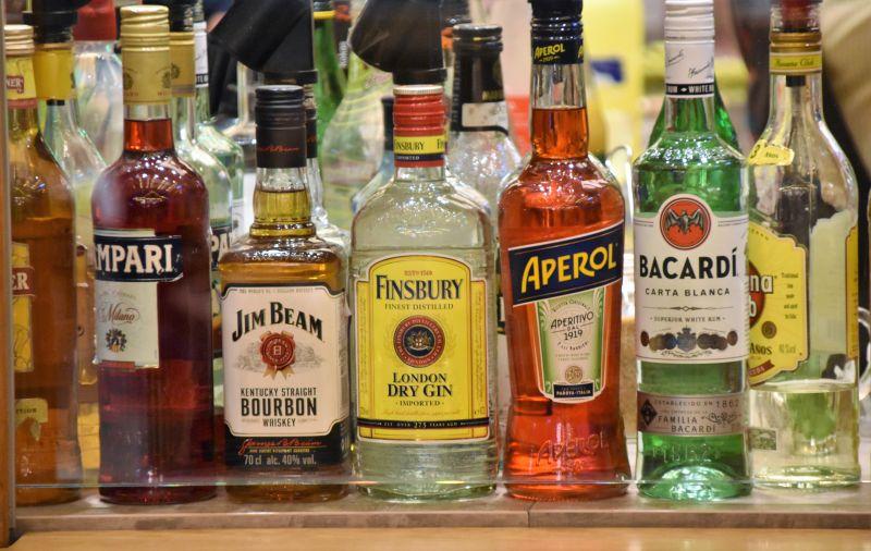 Bottles of spirits