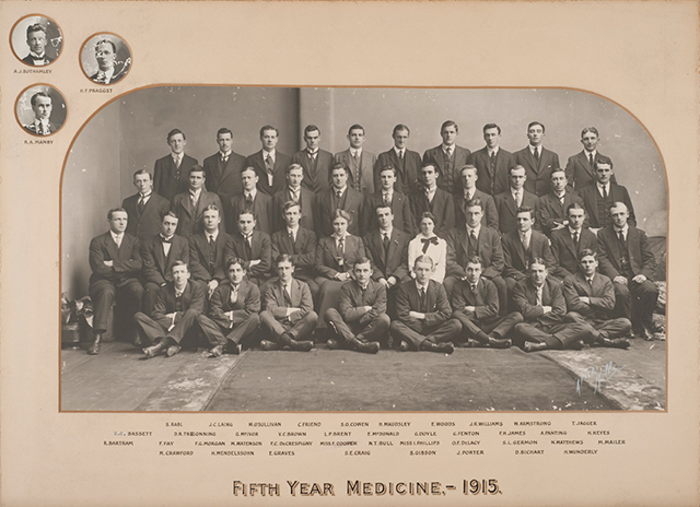 A group of fifth year medical students in 1915
